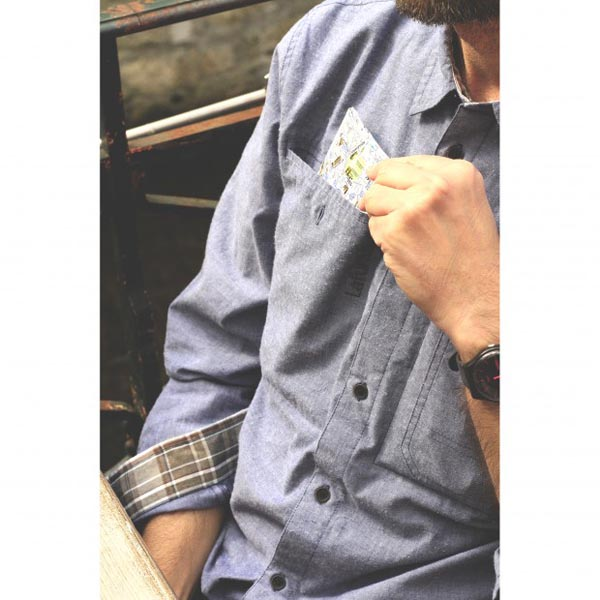 Lafuma Men TRAVELLER SHIRT Marine Outlet Store