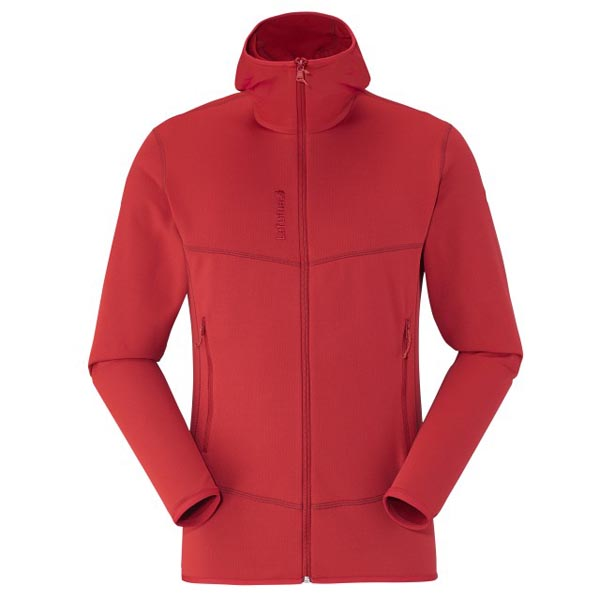 Men Lafuma hiking fleece TRACK THERMAL HOODIE Rouge Outlet Online