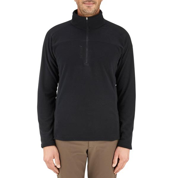 Lafuma Men hiking fleece Rib t-zip noire On Sale