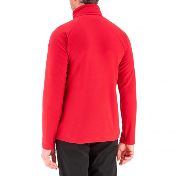Lafuma Men hiking fleece Rib t-zip rouge On Sale