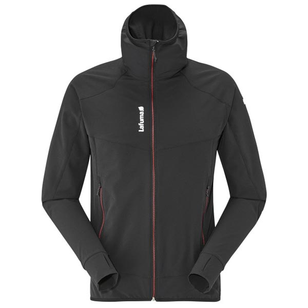 Lafuma Men hiking jacket TRACKSHELL F-ZIP Noir On Sale