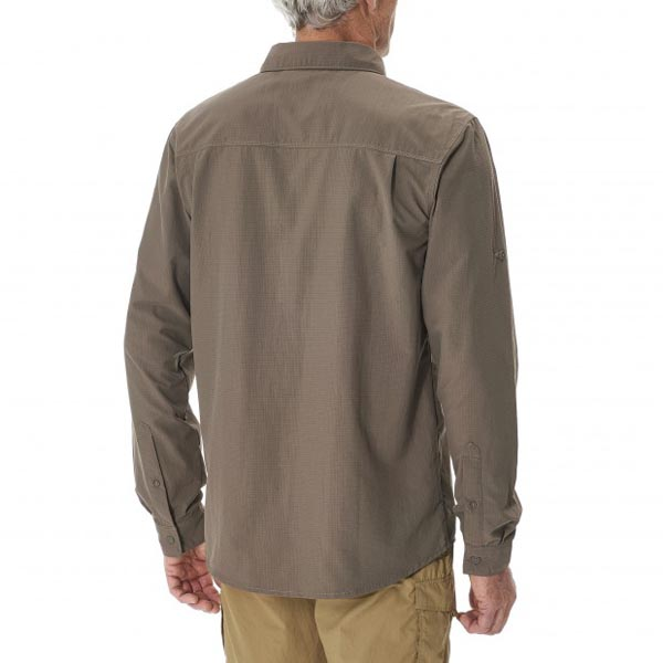 Lafuma Men hiking shirt EXPLORER SHIRT Marron On Sale
