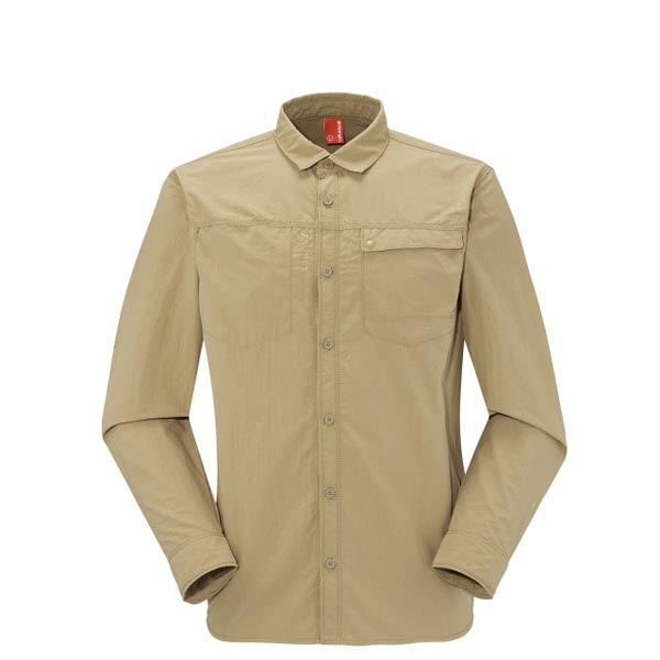 Men Lafuma hiking shirt EXPLORER SHIRT Beige Outlet Online
