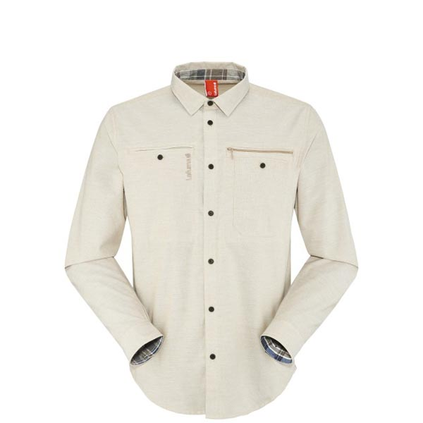 Lafuma Men travel shirt TRAVELLER SHIRT Camel On Sale