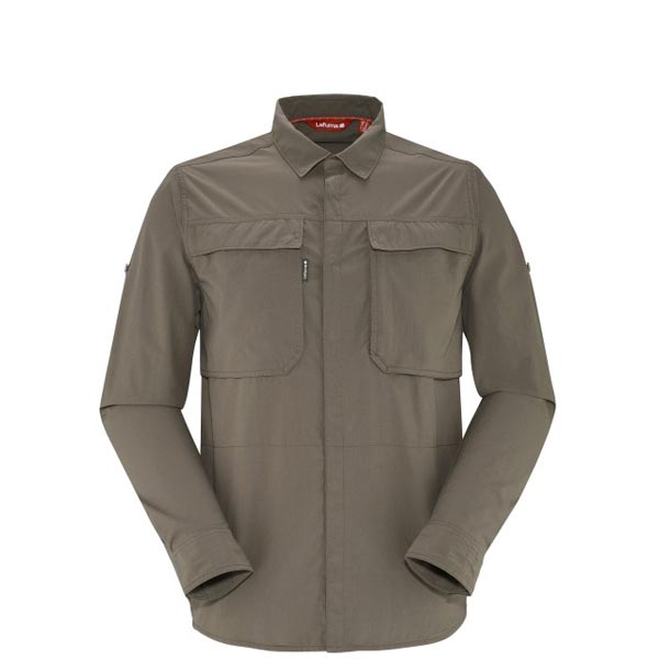 Men Lafuma hiking shirt EXPLORER X-POCKET Marron Outlet Online