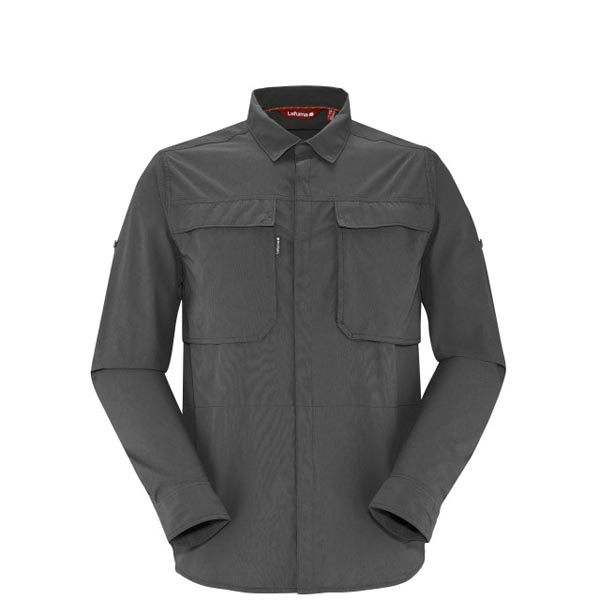Lafuma Men hiking shirt EXPLORER X-POCKET Noir On Sale