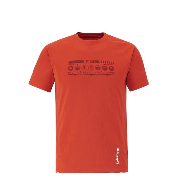 Lafuma Men hiking tee-shirt ACCESS TEE Rouge On Sale