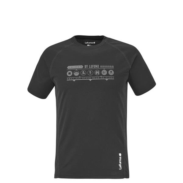 Lafuma Men hiking tee-shirt ACCESS TEE Noir On Sale