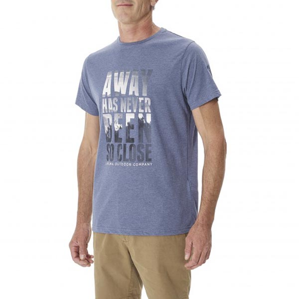 Lafuma Men travel tee-shirt VOYAGER TEE Violet On Sale