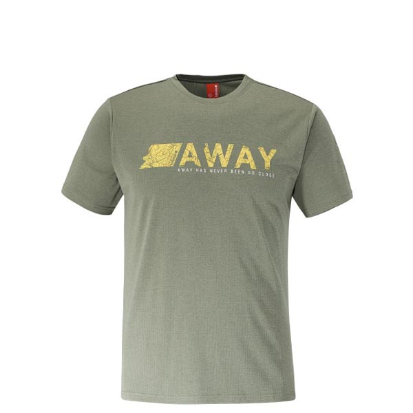 Men Lafuma hiking tee-shirt SHIFT TEE Kaki Outlet Online
