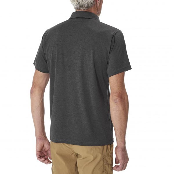 Lafuma Men hiking polo SHIFT POLO Noir On Sale