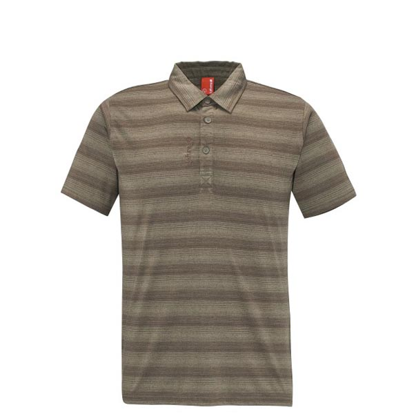 Lafuma Men travel polo ESCAPER POLO Marron On Sale