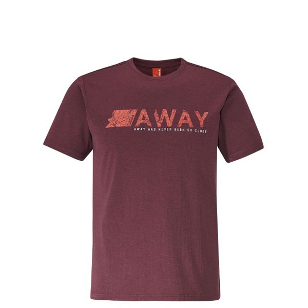 Men Lafuma hiking tee-shirt SHIFT TEE Rouge Outlet Online
