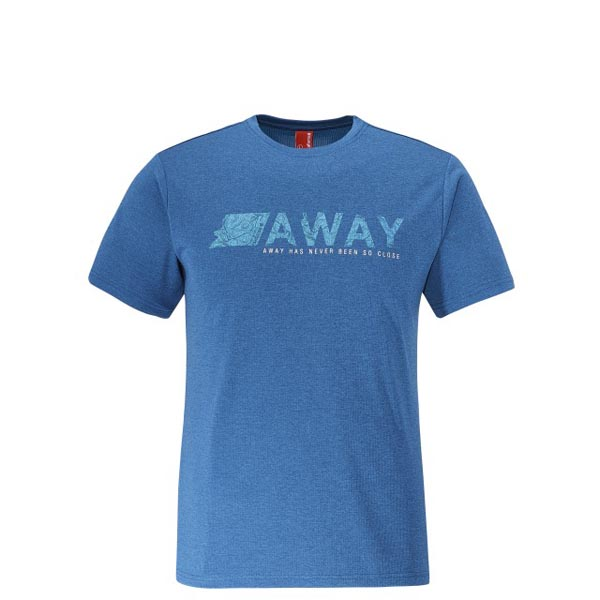 Men Lafuma hiking tee-shirt SHIFT TEE Bleu Outlet Online