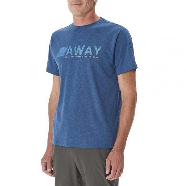 Lafuma Men hiking tee-shirt SHIFT TEE Bleu On Sale