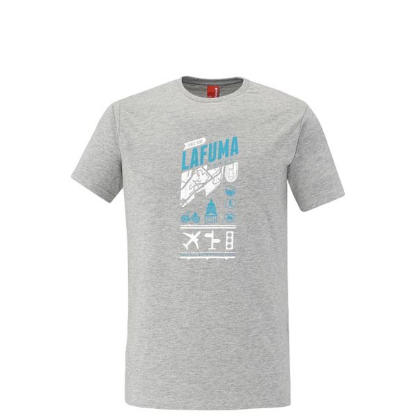 Lafuma Men travel tee-shirt ADVENTURE TEE Gris On Sale