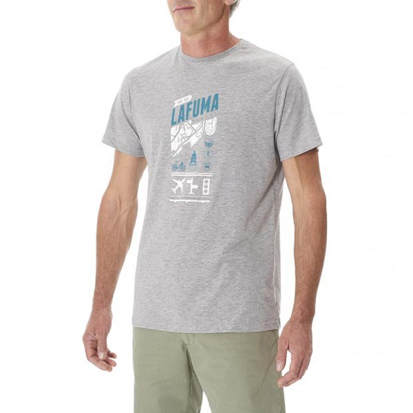 Men Lafuma travel tee-shirt ADVENTURE TEE Gris Outlet Online