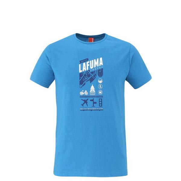 Men Lafuma travel tee-shirt ADVENTURE TEE Bleu Outlet Online