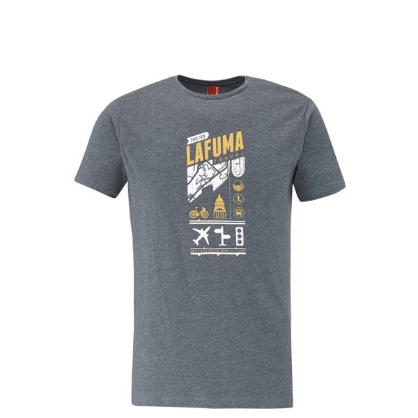 Men Lafuma travel tee-shirt ADVENTURE TEE Marine Outlet Online
