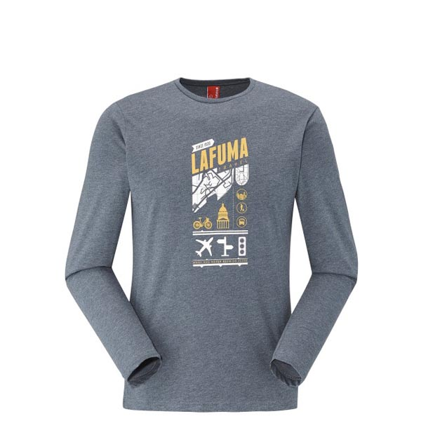 Lafuma Men travel tee-shirt ADVENTURE TEE LS Marine On Sale
