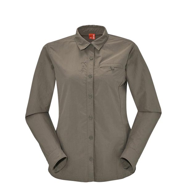 Lafuma Women trekking shirt EXPLORER SHIRT Marron On Sale