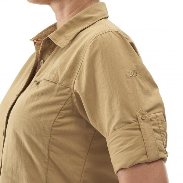 Lafuma Women trekking shirt EXPLORER SHIRT Beige On Sale