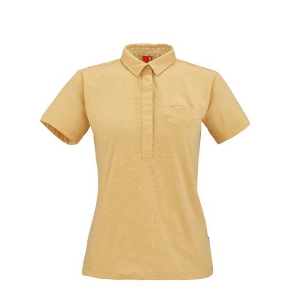 Women Lafuma travel polo ESCAPER POLO Jaune Outlet Online