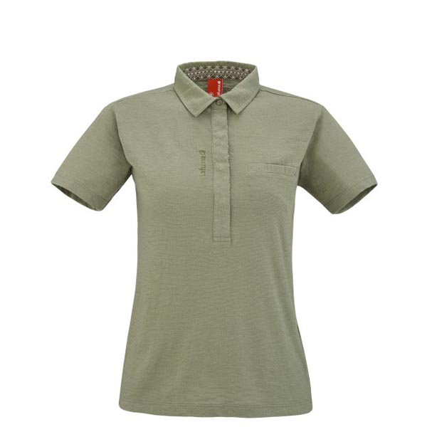 Lafuma Women travel polo ESCAPER POLO Vert On Sale