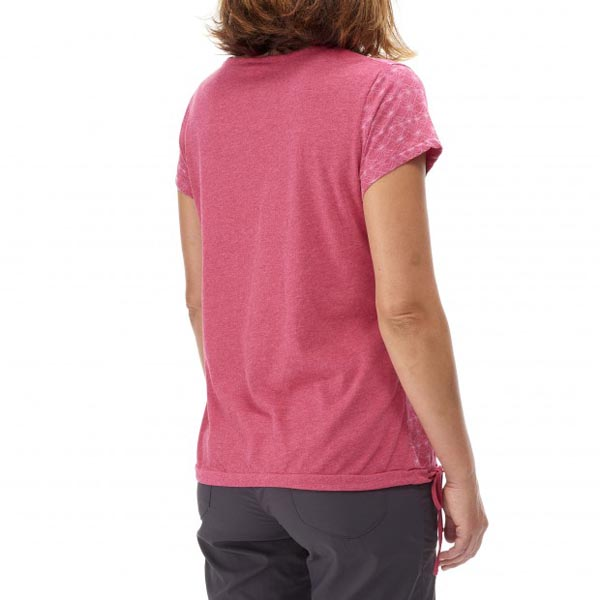 Lafuma Women travel tee-shirt KAMPASS TEE Rose On Sale