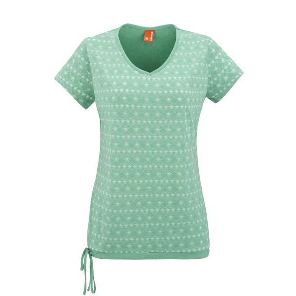 Women Lafuma travel tee-shirt KAMPASS TEE Vert Outlet Online