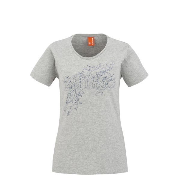Women Lafuma travel tee-shirt VEGETAL TEE Gris Outlet Online