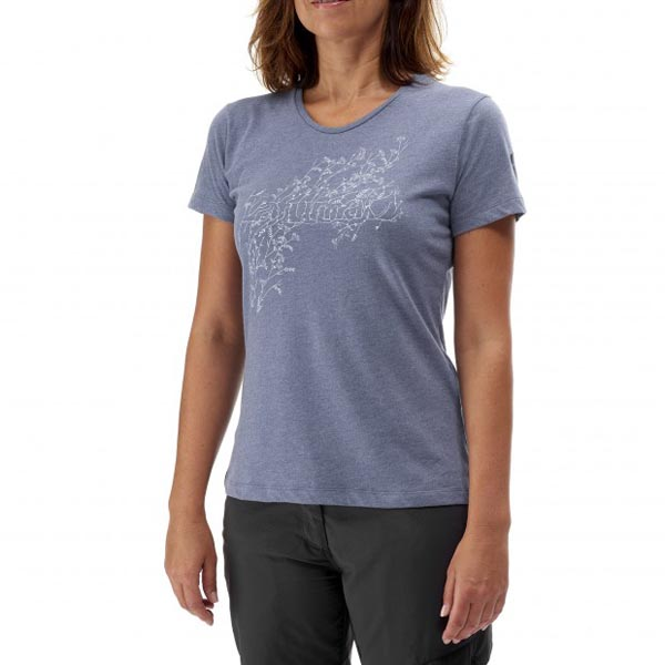 Women Lafuma travel tee-shirt VEGETAL TEE Violet Outlet Online